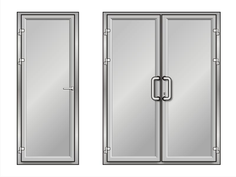 Ремонт пластиковых и алюминиевых дверей