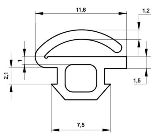 Уплотнитель ТПУ 003
