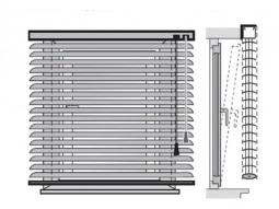 Монтаж горизонтальных жалюзи на проем окна(к стене или потолку)